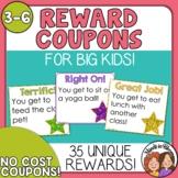 Reward Coupons for Positive Classroom Management