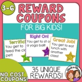 Reward Coupons for Positive Classroom Management