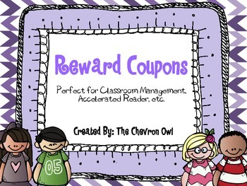 Reward Coupons for Classroom Management, Accelerated Reader, etc.