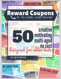 Reward Coupons for Middle School