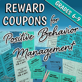Reward Coupons for Positive Classroom Management and Behavior Management