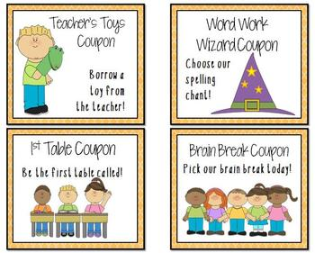 Reward Coupons for Positive Student Behavior