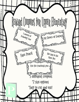 Reward Coupons for Upper Elementary