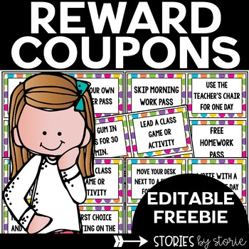 Reward Coupons for Your Students by Stories by Storie | TpT