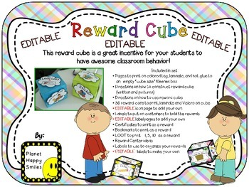 Reward Cube (EDITABLE)