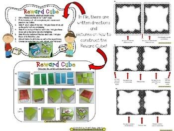 Reward Cube (EDITABLE) in a B/W Polka Dot Print