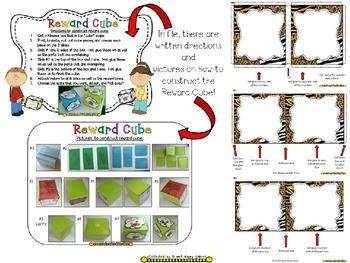 Reward Cube (EDITABLE) in a Safari/Animal Print Theme