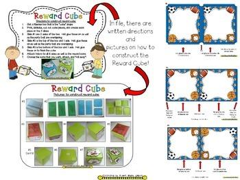 Reward Cube (EDITABLE) in a Sports Theme