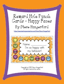 Reward Hole Punch Cards - Happy Faces