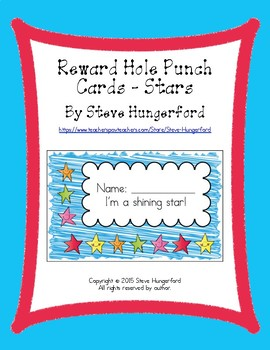 Reward Hole Punch Cards - Stars