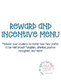 Reward/Incentive Chart - EDITABLE