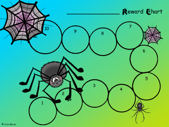 Reward/Incentive Chart - Spiders - Freebie
