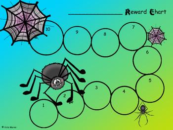 FREEBIE - Reward/Incentive Chart - Spiders
