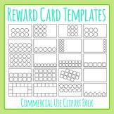 Reward / Loyalty Card Templates Clip Art Set for Commercial Use
