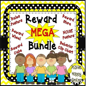 Reward Mega Bundle ~ Black and White Polka Dots (editable files)