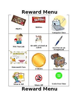 Reward Menu EDITABLE