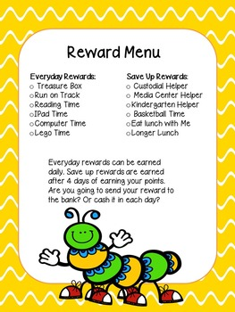 {FREE} Reward Menu for Behavior Charts