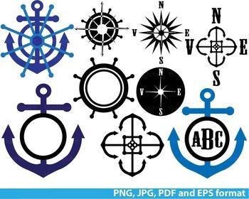 Reward Nautical Navy anchor Clipart school Logo monogram S