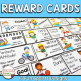 Reward Note Cards for Effort and Perseverance - Sports Theme