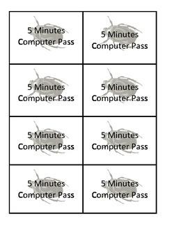 Reward Passes - Bug Theme