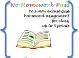 Reward Passes for Positive Reinforcement - Middle School