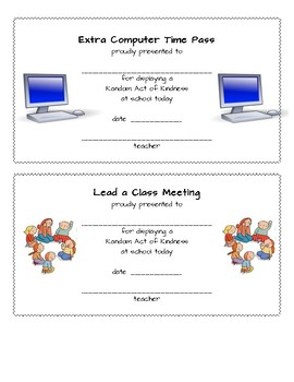 Reward Passes for Students
