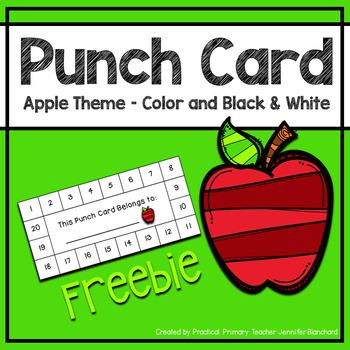 Reward Punch Card - Apple Theme