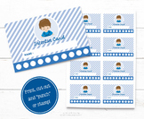 Reward Punch Card - Incentive Stamp Card - Personalised