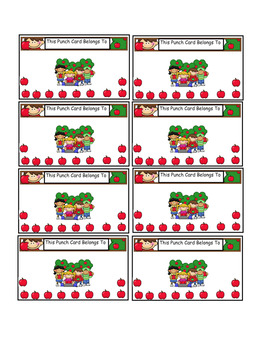 Reward Punch Cards Apples