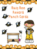 Busy Bee Reward Punch Cards