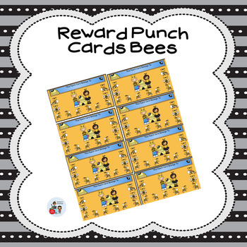 Reward Punch Cards Bees