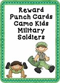 Reward Punch Cards Camo Kids Military Soldier