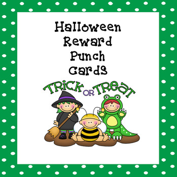 Reward Punch Cards Halloween