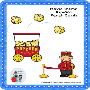 Reward Punch Cards Hollywood Movie Theme