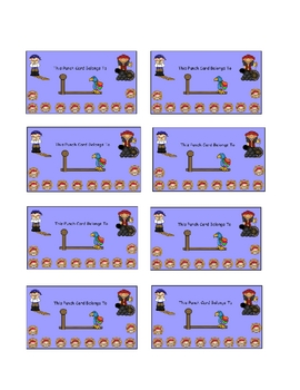 Reward Punch Cards Pirate