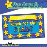 Reward Punch Cards - Star Awards Student Incentive Cards