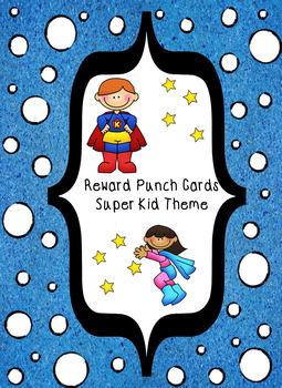 Reward Punch Cards Super Kids