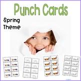 Reward Punchcards Spring Theme