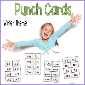 Reward Punch Cards Winter Theme