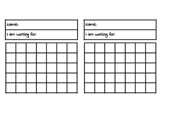 Reward & Reinforcement Chart (35 squares)