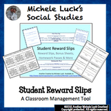 Reward Slips, Homework Passes, Bonus Slips and More! Back to School