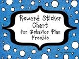 Reward Sticker Chart for Behavior Plan Freebie