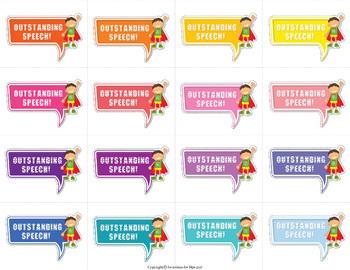 Reward Stickers Speech Therapy (Boys)