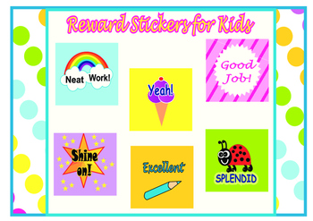 Reward Stickers, Stickers for encouraging kids