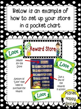 Reward Store ~ Black and White Polka Dots (editable)