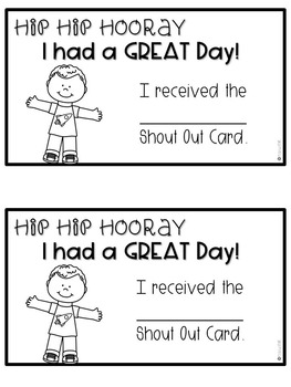 Reward Student Behavior with Shout Out Cards