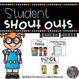 Positive Behavior Shout Out Cards