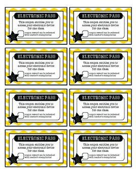 Reward System COUPONS for Positive Behavior