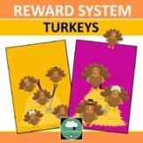 Reward System THANKSGIVING TURKEYS Whole Class Single Stud