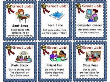 Reward Coupons - Classroom Behavior Management